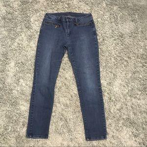 Michael Kors Zipper Pocket Skinny Jeans, 6